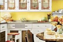 Yellow Kitchens / Bright, sunny, warm...who doesn't love a yellow kitchen?  Use hues from the Colorhouse GRAIN and ASPIRE color families to create a classic or contemporary kitchen drenched in sunshine year round.