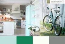 Color Stories: Bright+Breezy Palette / Long sunny days filled with bicycle rides, picnics, and play.  These are the moments our summer memories are made of.  Inspired by blue skies and green grass, our Bright+Breezy color palette embraces the vibrancy of THRIVE .06 and pairs it with complimentary hues DREAM .02, IMAGINE .02, and STONE .07 for a contemporary aesthetic with a hint of vintage.
