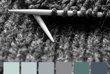 Colorhouse WOOL Color Family / Part of the Handcrafter Color Collection,  the WOOL color family is a group of soft, grey blues that reflect the depth of hand-dyed yarn, perfect for creating relaxed interiors.