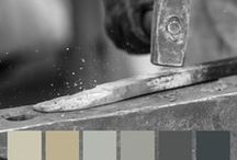 Colorhouse METAL Color Family / Part of The Handcrafter Color Collection, the METAL color family is group of cool, steel-colored neutrals designed for a modern aesthetic. / by Colorhouse Paint