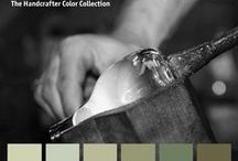 Colorhouse GLASS Color Family / Part of the Handcrafter Color Collection, the GLASS color family is a group of cloudy greens reminiscent of Depression era milk glass.