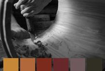 Colorhouse WOOD Color Family / Part of the Handcrafter Color Collection, the WOOD family is a group of mahogany reds and teak–tinged oranges that add a rich elegance to gathering spaces. / by Colorhouse Paint