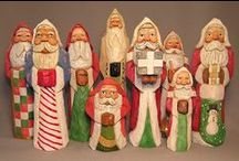 Gifts for the Holiday Season / Holiday wood carvings would be a splendid addition to any Christmas Holiday decor. Choose from an old world Santa to a festive snowman. Enjoy