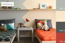 Grey + Orange / Spring Color Trends - Mix + match different styles seamlessly in one room with the gentle combo of soft grey and creamy orange.