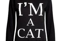 Cat People Fashion / Love the look! Cats on clothing and accessories. Too cute!