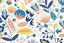 Surface patterns / floral, botanical, patterns for kids, shapes, vehicles, fruit, beverages and a whole bunch more.