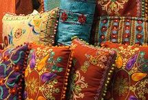 Home ~ Pillows, Poufs & Ottomans / by Wine Country Woman