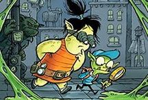 Tank and Fizz / A goblin and a troll under a mountain hacking the system and solving mysteries. Coming from Orca Book Publishers Fall 2014.