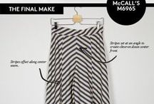 How to Sew Stripes to Create Striking Fashions / Choose sewing patterns that have lots of seams to create visual interest and geometric shapes with striped fabric.