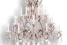 Chandeliers by Colony Imports /  Whether an over scaled Bronze and Crystal chandelier for a Grand Entry, or a simple sparkle to add instant ambiance, this collection holds something for every taste. http://colonyimports.com