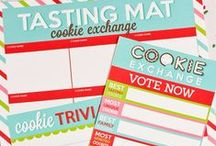 PARTY: Cookie Exchange / Crafts, printables, recipes, and party decor for an EXTRAORDINARY Cookie Exchange party!