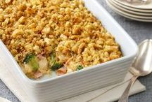Casseroles / Casseroles are a great stand by meal.  Easy cleanup and perfect for a day when you're craving comfort food.