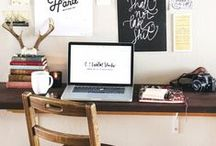 Home Office Inspiration / One of the many perks of freelancing is being able to work from home. This board offers collections of home office/ work space inspiration that could add oomph to your every day freelancing adventure.