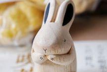 DES PETITS LAPINS / Rabbits, hares, and jumpers / by Sarah Chang