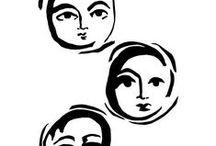 ArtsyFartsy / daddy love - by helen dardik. Limited edition giclee print of an original illustration (collage)