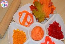 Fall Theme / Fall and Autumn themed activities, crafts, and projects for preschool, pre-k,and kindergarten that infuse literacy, math, science, fine motor, gross motor, sensory, art, music, and/or dramatic play.