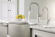 Kitchen Sinks, Faucets & Accessories / Gerhards offers a variety of plumbing products for the kitchen: sinks, faucets, hot water dispensers, garbage disposers and more in all the colors, shapes, sizes and brands.