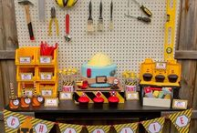 Construction themed 2nd bday party!⚠