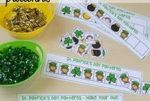 St. Patrick's Day Theme / St. Patrick's Day activities, crafts, and projects for preschool, pre-k,and kindergarten that infuse literacy, math, science, fine motor, gross motor, sensory, art, and/or dramatic play.