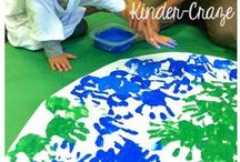 Earth Day Theme / Earth Day & Recycling themed activities, crafts, and projects for preschool, pre-k,and kindergarten that infuse literacy, math, science, fine motor, gross motor, sensory, art, music, and/or dramatic play.