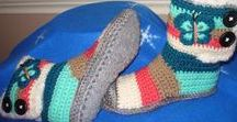 Bohemian Fur Felted Boots / Crochet Patterns