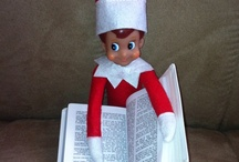 "Elf on~a~shelf.....Sneaky! / I was given a little elf holding a small box of candy when I was young by a fellow classmate. I didn't know there was any such thing as the ""Elf on a Shelf"" until last year. I would've loved making this a tradition w/ our kids. Maybe I can do something w/ the grandkids. I love the silliness of it!