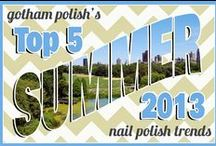 Top 5 Summer 2013 Nail Polish Trends / by Amy