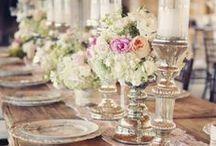 Bryllupsbordet / Her kan du finne inspirasjon til hvordan du skal pynte bryllupsbordet. Finn også inspirasjon i de andre mappene våre!