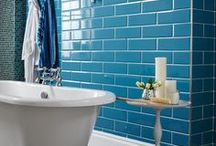 Bathroom Tiles / Inject some colour and texture into your bathroom with some eye-catching tiles!