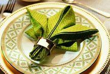 Servietter / Her ser dere mange flotte måter å brette servietter på.