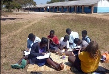 """Livingstone, Zambia / The Book Bus is improving child literacy at schools just a short drive from """"the Smoke that Thunders"""". The project in Livingstone offer an unique volunteering experience combined with adventure on the Zambezi."""