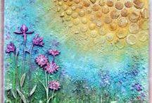 Altered Art/Mixed Media / Outside the box - inky, creative inspiration!