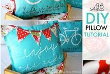 SEW ~ PILLOWS / Tons of free tutorials and patterns!  How to sew Pillows.