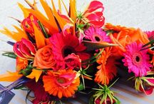 Our bouquets we have made www.weddingflowersincornwall.co.uk / Handtieds, shower bouquets, cornucopia bouquets, pomanders, over arm bouquets.