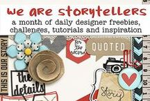 TLP :: We Are Storytellers 2014 / We Are Storytellers at the Lilypad :: 4 weeks in the summer of 2014 of layouts, tutorials, inspiration, challenges and freebies!