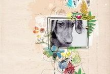 TLP :: Pollywog Scrapbook Inspiration / Digital & hybrid scrapbook layouts and projects by the Lilypad creative team.