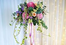 Our pedestals at Wedding Flowers in Cornwall