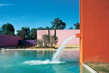 """Luis Barragan, Architect and Color Genius / Luis Barragan:  March 9, 1902 – November 22, 1988 """"I don't divide architecture, landscape and gardening; to me they are one.""""   / by Arielle Schechter"""