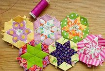 """""""ENGLISH PAPER PIECING QUILT ~ BLOCKS"""" / USING PAPER FOR QUILT BLOCK, QUILTING / by Liz Herceg-KELLY"""
