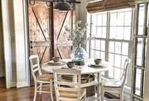 Home Decor - Kitchen ideas / Farmhouse inspired and dreamy kitchens.