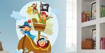 VINILOS INFANTILES / Vinilos infantiles, elementos decorativos únicos para las habitaciones de los más peques. Cenefas adhesivas con motivos infantiles, stickers de las mejores marcas, pegatinas para las paredes del rey de la casa y vinilos decorativos para la princesita de la casa.