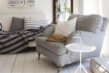 Home - Living Room / Sofas, sitting areas, comfortable cushions and pillows.
