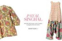 Payal Singhal | Shop Kidswear / Adorable little dresses, suits and lenghas in playful prints and colors.