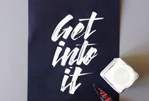 Just Our Type!  / Clever typography design that inspires us!