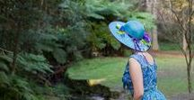 Hats in Action / Images of my lovely customers and friends in their hats by Tanith Rowan Designs.