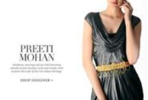 Preeti Mohan | Shop Designer Jewelry / Necklaces, earrings and sari belt featuring colorful stones, kundan work and temple work accents tell a tale of the rich Indian heritage.