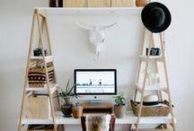 Work Spaces (inspiración) / Ideas y tendencias decorativas para oficinas. Complementos perfectos para la decoración con vinilo. Blanco, mesas de madera rústica, organizadores de pared, silla blanca... ¡nada de esto falta en 2016!