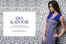 Dia Kapoor | Shop Suits, Saris & More. / A vibrant line of Indian suits, enhanced with fine Indian embroidery.
