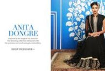 Anita Dongre | Shop Designer Wear / Inspired by the Mughal era, discover this stunning collection enhanced with the precious zari work and gota embroidery.
