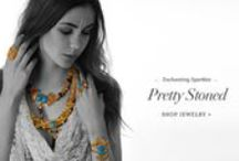 Pretty Stoned | Shop Jewelry! / Statement necklaces, cuffs and earrings bedecked in colorful stones will be the season's hot picks.